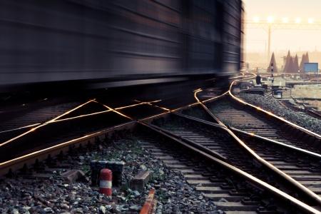 Freight train motion blur photo