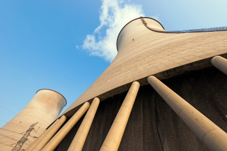 Cooling tower at nuclear power plant photo