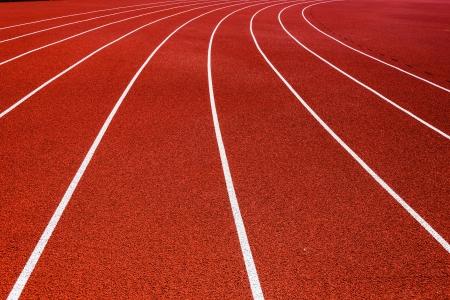 Lateral de una pista roja Foto de archivo - 21172459