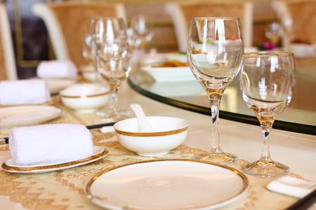 Fijn restaurant tafel couvert