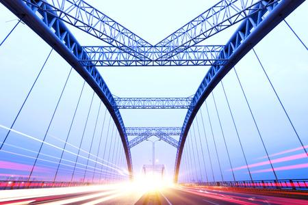 the night of modern bridge, Stock Photo