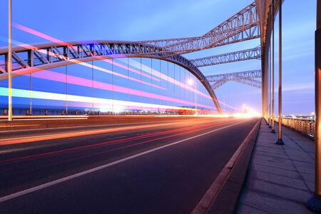 the night of modern bridge, Standard-Bild