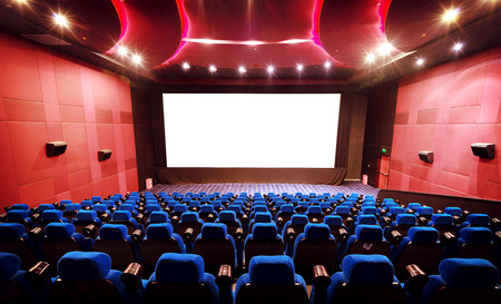 Empty movie theater with red seats Éditoriale