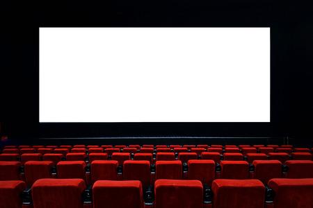 teatro: Sala de cine vac�a con asientos rojos