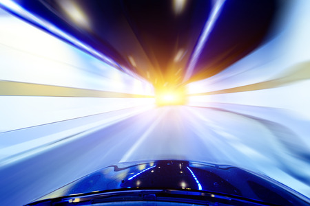 smeared: High-speed car in the tunnel, Motion Blur