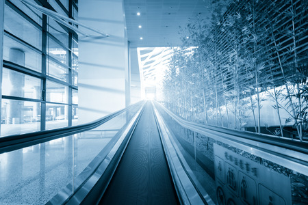 urban architecture: Escalator Stock Photo