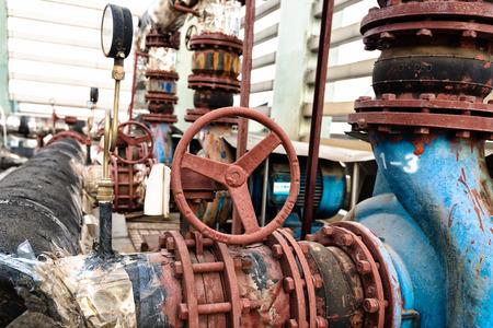 Industrial zone valves, factory equipment.