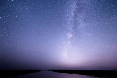 starry night: milky way Stock Photo
