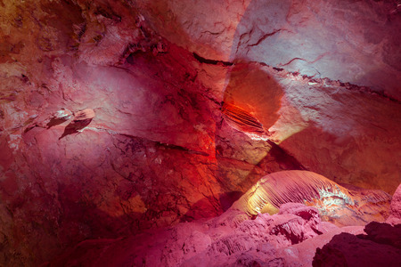 Rock formation inside a cave Stock Photo