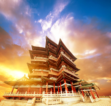 Chinese ancient architecture, ancient religious Editorial
