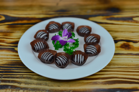 Praline chocolate dessert 免版税图像