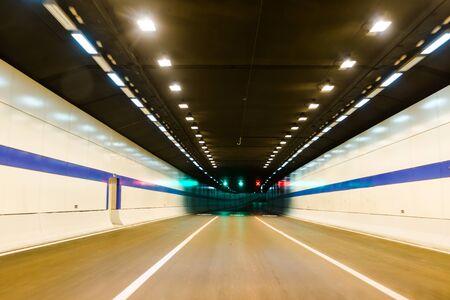 night vision: Car tunnel