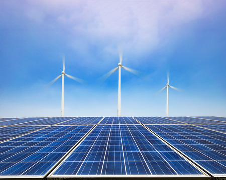 Solar panels, new energy sources in China