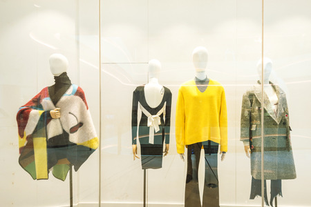 Fashion design, model display.