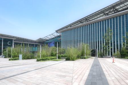 Exterior view of exhibition halls Editorial
