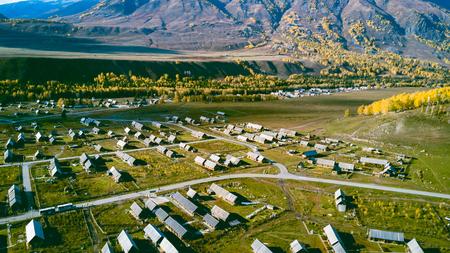 Hemu Village, Xinjiang Province Standard-Bild
