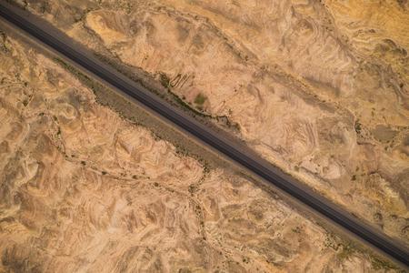 China Xinjiang Desert Highway Standard-Bild