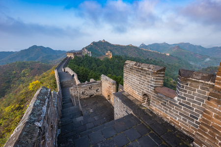 Great Wall of Beijing, China Standard-Bild - 121171638
