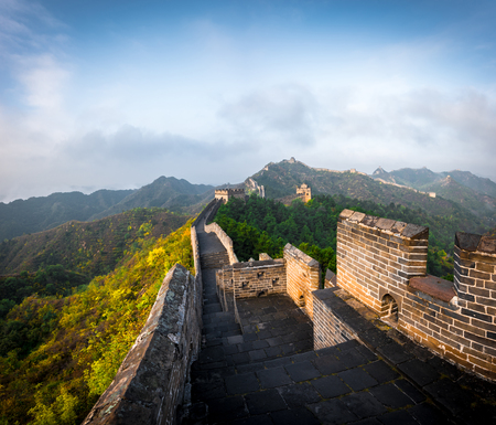 Great Wall of Beijing, China Imagens - 121171781