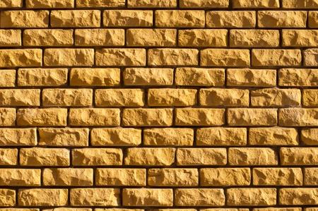 yellow brick wall texture 免版税图像