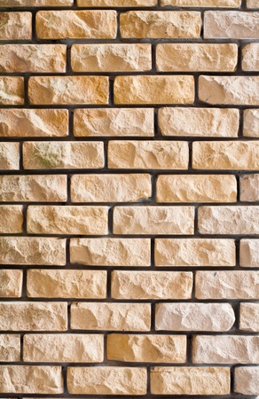 yellow brick wall texture Stock Photo - 12665020