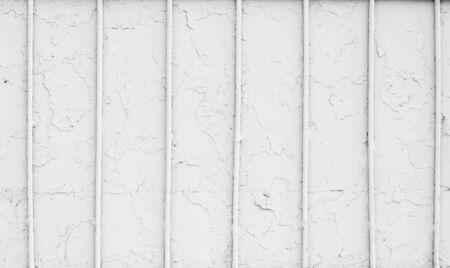 vintage white old metal fence photo