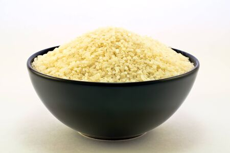 rice in a ceramic bowl photo