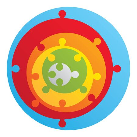wrong: Wrong round puzzle - 6 parts Illustration