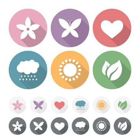 romantic: Set of simple romantic Flat Icons Illustration
