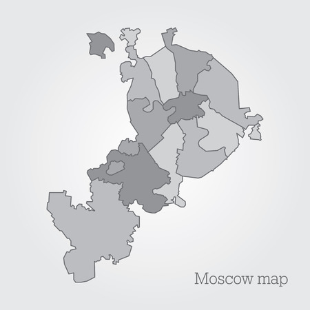 megacity: Moscow administrative map