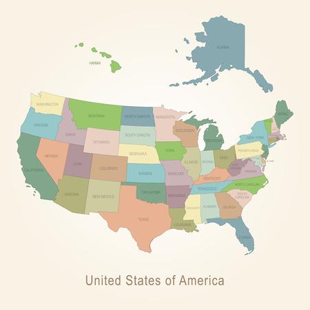 administrative: USA administrative map