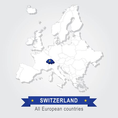 administrativo: Suiza. mapa administrativo Europa.