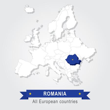 administrativo: Rumania. mapa administrativo Europa.