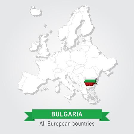administrativo: Bulgaria. mapa administrativo Europa.