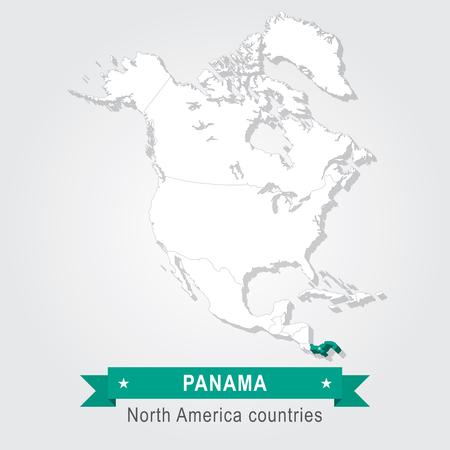 bandera de panama: Panam�. Todos los pa�ses de Am�rica del Norte. versi�n verde Vectores