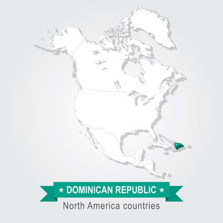 celadon green: Dominican Republic. All the countries of North America. Green version