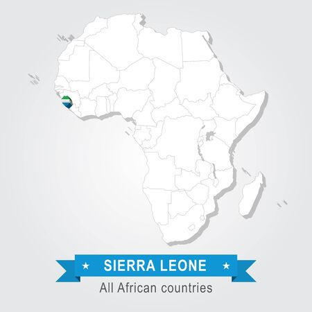 equator: Sierra Leone. All the countries of Africa. Flag version
