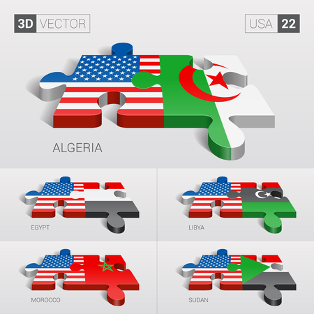 Algeria Map Set Stock Illustrations Cliparts And Royalty Free - Map of egypt libya and sudan