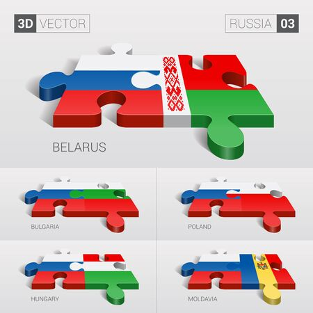 sovereignty: Russia and Belarus, Bulgaria, Poland, Hungary, Moldavia Flag.