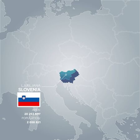 Slovenia information map.