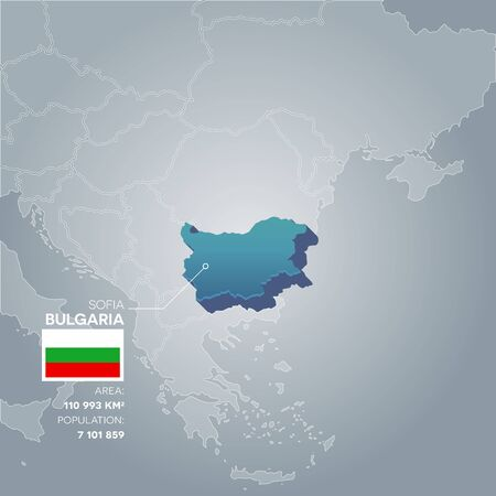 Bulgaria information map. Illustration