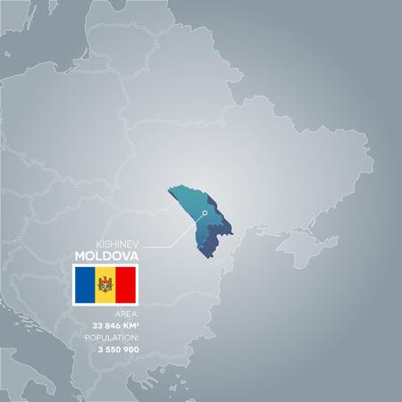 Mapa de información de Moldavia.