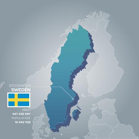 Sweden information map. Illustration