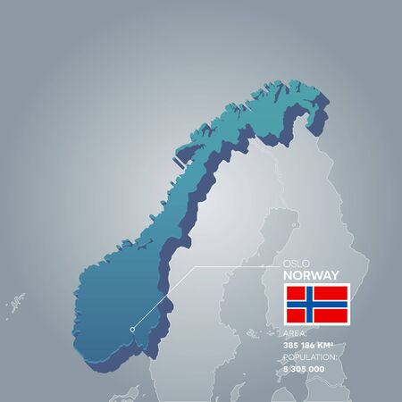 Norway information map.