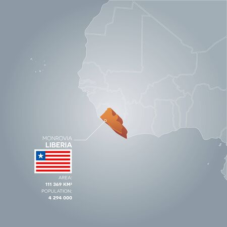 politic: Liberia information map. Illustration