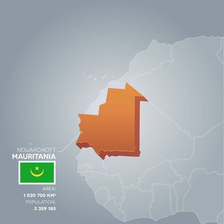 politic: Mauritania information map.