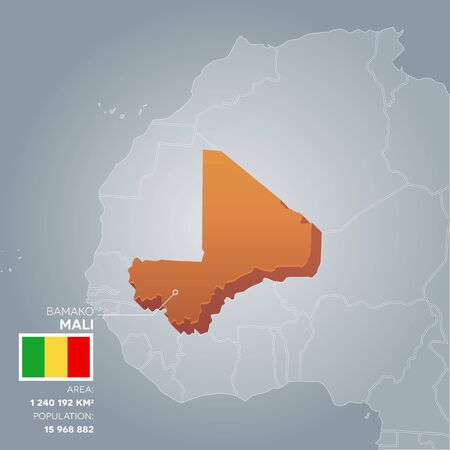 politic: Mali information map.