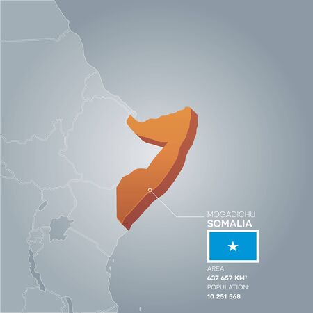 Somalia information map. Vetores