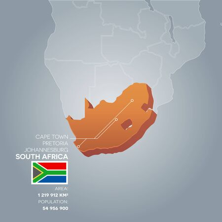 South Africa information map.