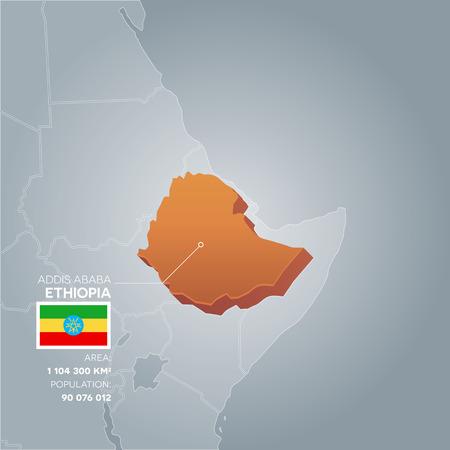 Ethiopia information map. Stock Photo